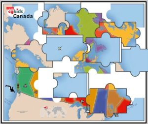CG Kids Map of Canada Puzzle